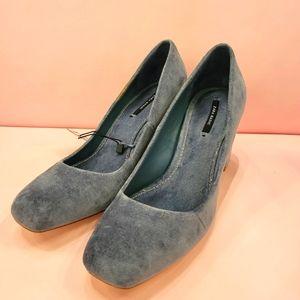 Zara micro suede heels
